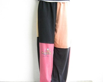 Custom Made From YOUR Own Tees OOAK Womens Clothing Custom Womens Pants T-Shirt Pants Upcycled T-Shirts Cotton Pants Size S - M ohzie