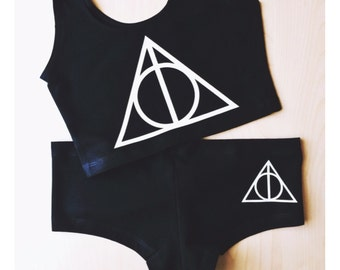Deathly Hallows Undies - by So Effing Cute - inspired by Harry Potter - Top Sold Separately