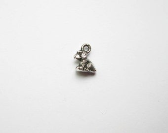 50 Small Dog Charms in Silver Tone - C1200-BULK