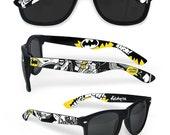 Sunglasses Batman gift for boyfriend customized men women unique Joker Dark Knight superhero geek comics comiccon Gotham Wayfarer Ketchupize