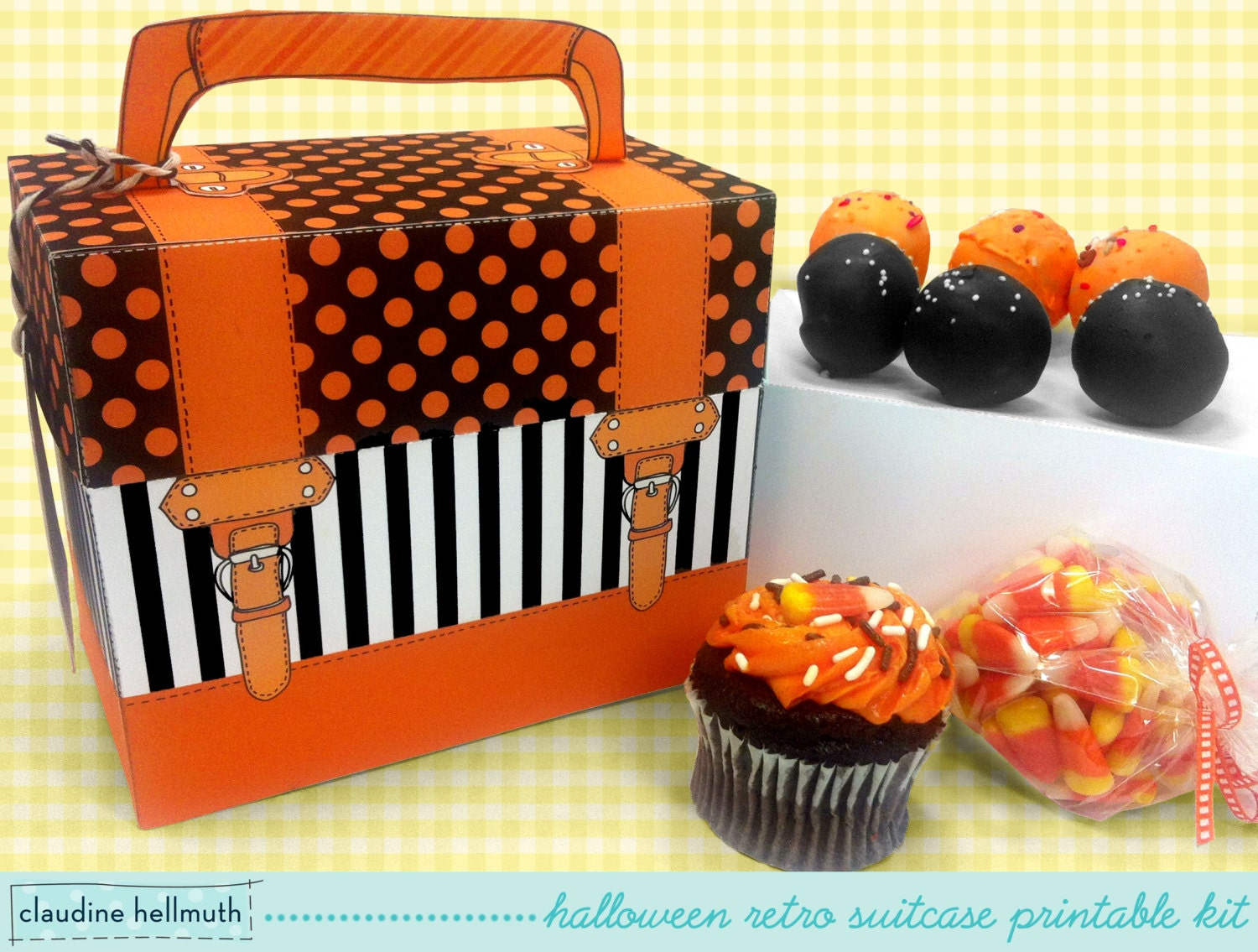 halloween cake pop and cupcake box holds cookies candy