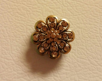 Decorative gem refrigerator magnets