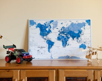 The World Is Art Map Print