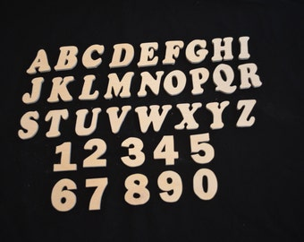 Handmade 2 Inch Wooden Letters or Numbers