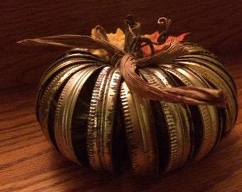 Mason ring pumpkin centerpiece, fall decoration, pumpkin decoration, rustic pumpkin