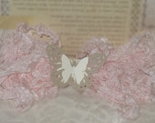 Scrunched Seam Binding Ribbon~Baby Pink~ Used for Crafts, Scrapbooking, Card Making, Altered Art, Gift Wrap, Sewing ECS