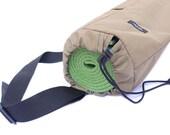 Khaki Tan Yoga Mat Bag - Tripod or Utility Bag. Made from Water-Resistant Nylon, Washable, Durable, Adjustable