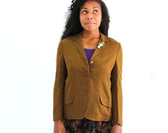 sale 1960s blazer. womens riding jacket . light brown jacket . mod menswear inspired blazer . preppy 60s jacket, John Peel, vintage blazer
