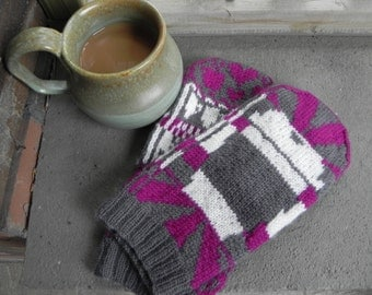 COFFEE! COFFEE!! Mittens Knitting Pattern PDF