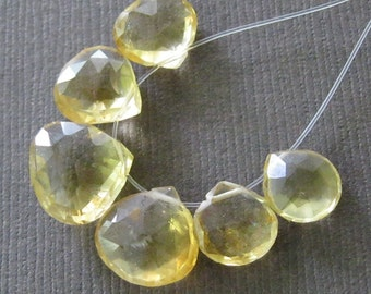 Golden Faceted Citrine Pears