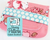 Card Wallets PDF Sewing Pattern | Business Card Case Pattern PDF | Mini Wallet Coin Purse Pattern | Pocket Wallet Gift Card Pouch Pattern