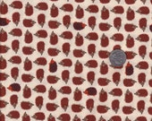 Half yard - Tan Hedgehogs -  Timeless Treasures cotton quilt fabric