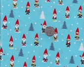 Many Mini Gnomes -- Michael Miller cotton quilt fabric - half yard