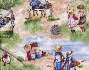 One yard - Childhood Memories - Faye Whittaker for Elizabeth's Studio cotton quilt fabric
