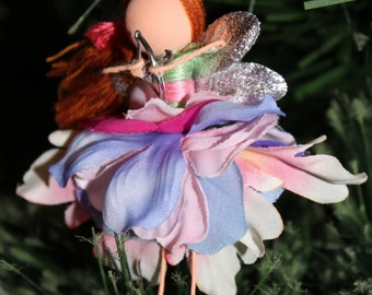 Pink Fairy Custom Faerie Ornament Pin or Clip