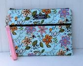 Padded Apple iPad Pouch Bag- Flower Girl