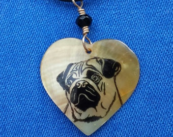 Pug Shell Necklace