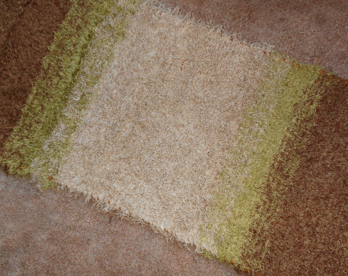 Handwoven --- Path Thru the Woods Rug --- Natural Tones --- 75x30