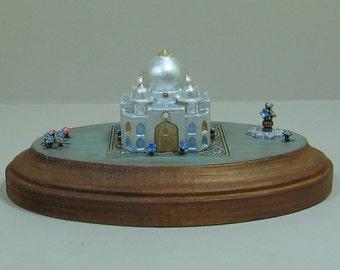 Miniature Pearly White Fantasy Palace Figurine