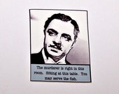 WILLIAM POWELL The Thin Man Noir Quote Pin