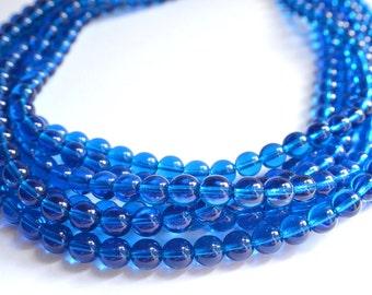 The Michelle- Dark Aqua Czech Glass Chunky Necklace