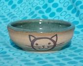Cat Bowl in Robin's Egg Blue