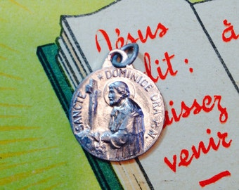 Vintage SAINT DOMINIC MEDAL French