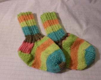 Sorbey Striped Toddler  Knitted Washable Wool Socks
