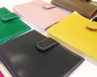 CLEARANCE Charcoal Leather Passport Case