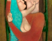 after the bath baby mother and child rose walton archival giclee print