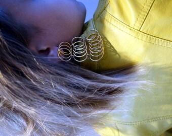 Vintage 70s Earrings Vintage Earrings Chandelier Dangle Clip-On Womens Jewelry Mod Modern Hippie Bohemian Boho