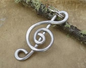 Treble Clef Aluminum Key Chain, G Clef Keychain, Music, Musician, Father's Day Gift, Men, Dad, Key Ring, Accessories, Unisex