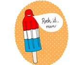Rock It, Rocketpop, archival print of original illustration by Anna Tillett Designs