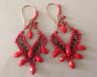 Alpa Red hot chandeliers