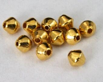 Gold 3mm Bicone Bead #MBC340