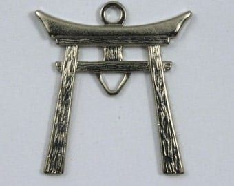 25mm Silver Colored Japanese Torii Charm #346