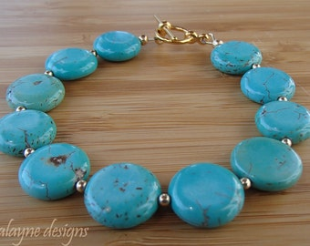 Magnesite Bracelet. Light Blue Bracelet. Blue Bridesmaids. Blue Green Bracelet. Something Blue Bracelet