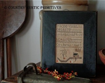 Primitive Cora Barnes Autumn Sampler Cross Stitch E Pattern PDF