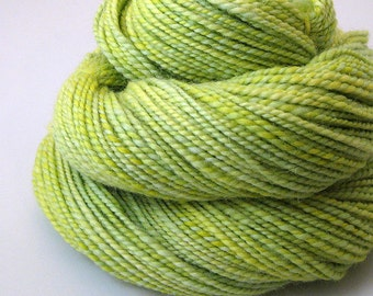 Handspun Yarn - Citron - 110 Yards