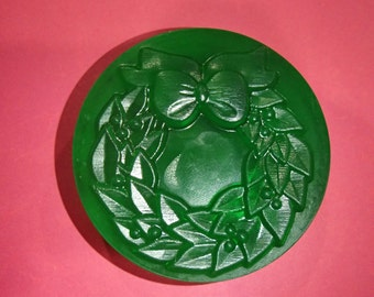 Christmas Wreath Glycerin Soap Bar