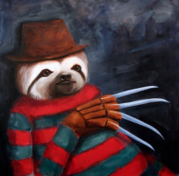 Nightmare Sloth Professional Giclee Print