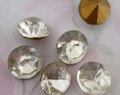 18 pcs. fire polished glass clear crystal foiled rhinestones ss41 - f4085