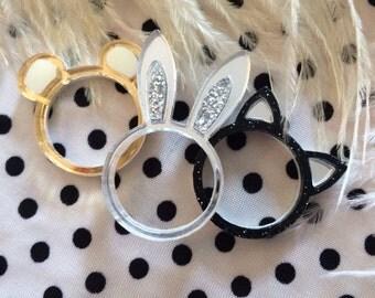 Bear, Bunny or Cat Ears Ring