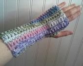sugarplum stripe  fingerless gloves