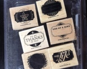 Retired Stampin Up! Designer Labels complete stamp set