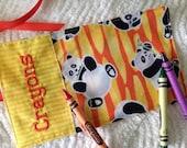 Panda Crayon Roll Up Personalized Crayon Wrap