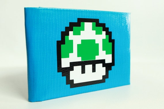 1up Super Mario Duct Tape Wallet - by jDUCT