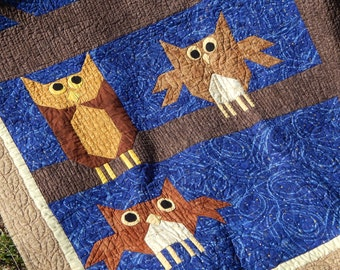 Night Owls Twin Quilt