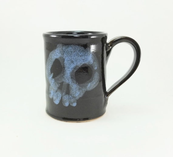 yet another spooky badass skull mug