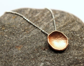 Rose Gold Petal Necklace Rosaline Sterling Silver Delicate Ball Chain Short Choker Dainty Petite Classic Minimalist Simple Modern Circle Dot